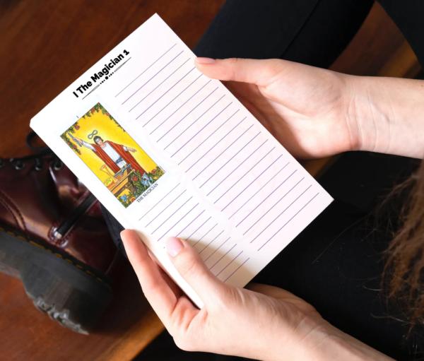 Tarot note sheets
