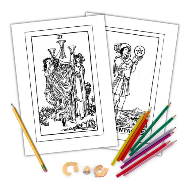 Tarot colouring pages